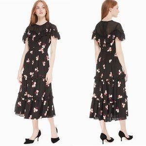 KATE SPADE Dusk Buds Midi Dress